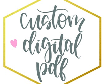 Custom Hand Lettered Digital Download PDF