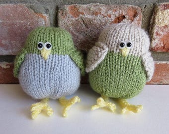 Hand knitted Spring Birds - Green