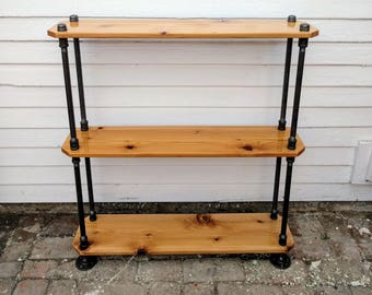 Modern Industrial Bookcase / Console Table - 2.75 ft Tall