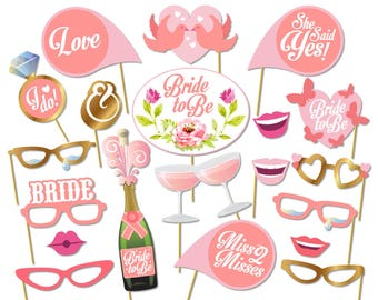 Printable Bridal Shower Photo Booth Props - Bride Photobooth - Bachelorette Printable Props - Bachelorette Party - 0218