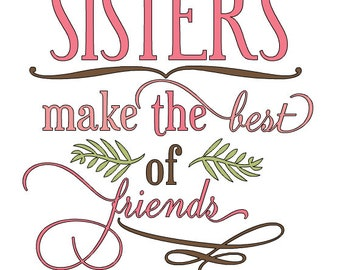 sisters make the best of friends svg png cricut sublimation printable instant download