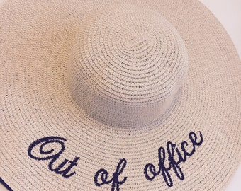 Luxury Floppy Sun Hat Out of Office