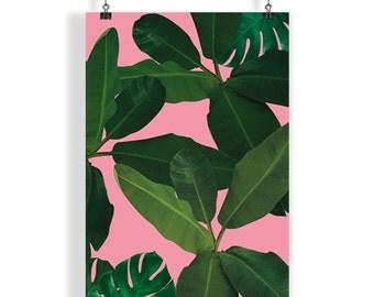 Leaves Print, Printable Art, Tropical Leaf Art, Modern Art, Wall Decor, Wall Art, Digital Download