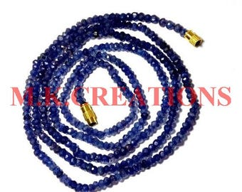 """On Sale Natural Iolite 3-4mm Faceted 22"""" Beads Necklace - Iolite Necklace - Iolite Faceted Beads - Iolite Rondelle - Iolite Loose beads"""