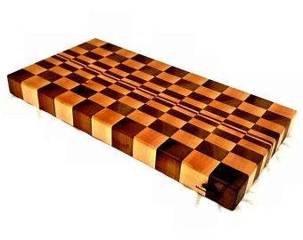 end grain cutting board  etsy, Kitchen design