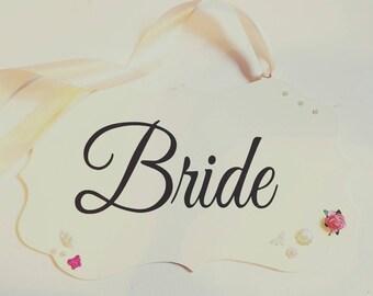 Bride, groom, mr& mrs plaque.