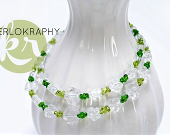 Chain ~ spring ~ floral Green
