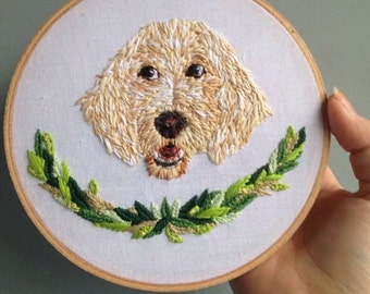 Custom Pet Embroidery Hoop
