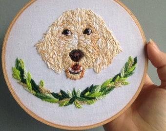 Custom Pet Embroidery Hoop
