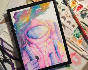 Pink Astronaut Print