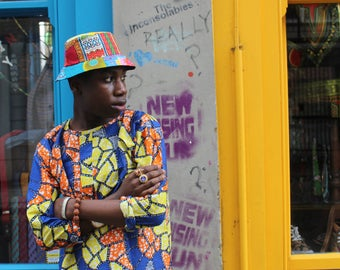 African Top - African Clothing - Colourful Shirt - African Wax Print - Wax Shirt - Festival Clothing - Festival Top - Summer Shirt
