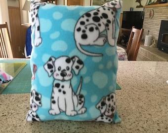 Handmade fleece pet pillow, Dalmatians