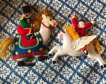 Vintage circus cloth ornaments set of 30