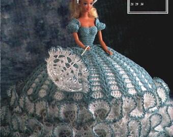 50. Barbie fashion doll dress, crochet pattern in pdf, Princess Barbie dress crochet pattern in pdf