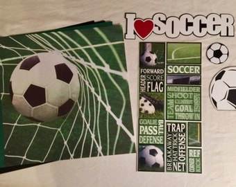 I Love Soccer Scrapbooking Kit
