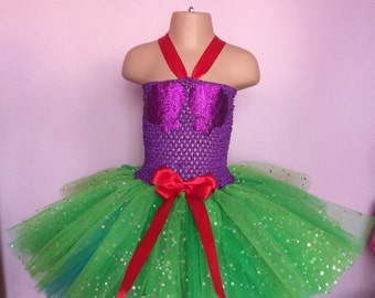 Ariel tutu, Little mermaid tutu, mermaid tutu, ariel dress, little mermaid dress, mermaid costume, Ariel costume, tutu dress long