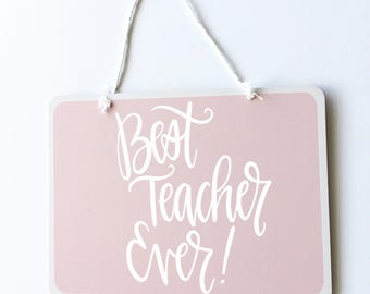 Small Pink Hanging Chalkboard
