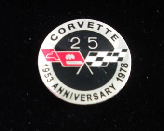Rare  Vintage Chevrolet Silver Anniversary(1978) Hat Pin/Lapel Pin