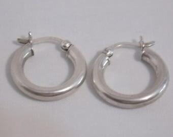 Small Sterling Hoop Pierced Earrings Sterling Silver Hoops Hoop Earrings Small Hoops Sterling Silver Earrings Tiny Earrings