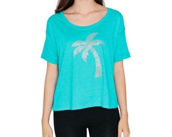 Palm Tree Boxy T Shirt
