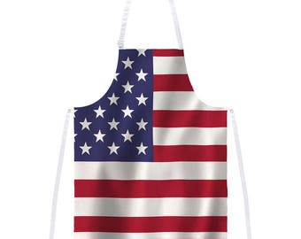 4th of July American Flag All Over Apron