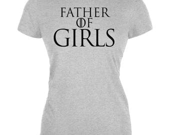 Father's Day Father of Dragons Girls Juniors Soft T Shirt