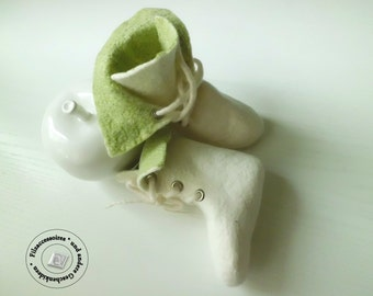 Baby Shoes Boots Gr.16/17(10cm) felted baby wool original gifts gift ideas christening Easter