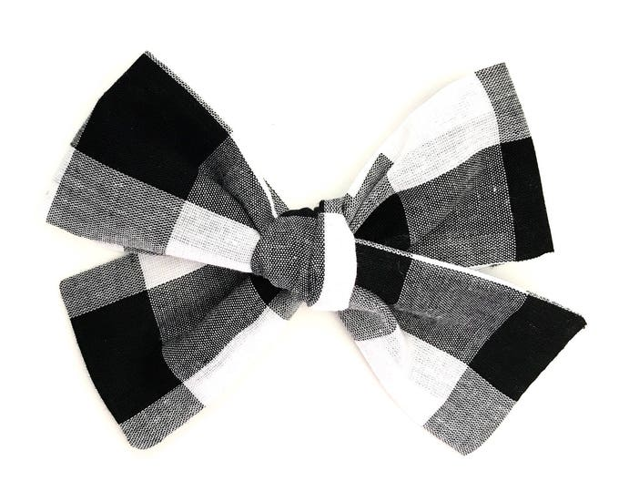 Sloane bow || buffalo check