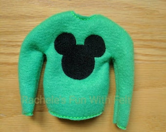 Elf sweater, Elf shirt, Elf clothes, mouse ears, Mickey, Christmas, holidays