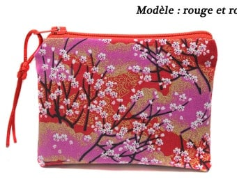 wallet in Japanese fabric