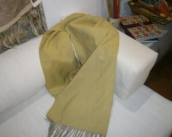 Light mustard scarf