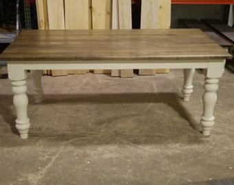 READY MADE: Solid poplar 6 foot farmhouse table