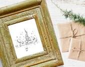 Oh Christmas Tree Celebration (Woodland Animal Christmas Drawing)