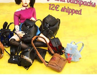 Minifee/slim msd bjd backpacks, bags and accessories