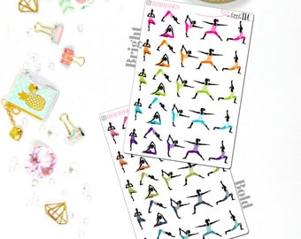 Yoga - Planner stickers, Workout Stickers, Yoga stickers, Yoga, Workout Stickers, Functional Stickers, Do Yoga, Planning stickers, Yoga girl