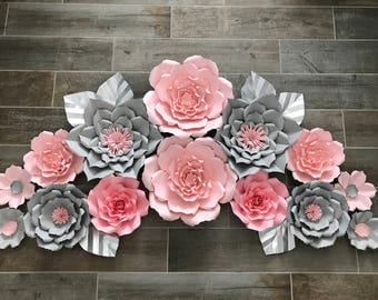 Pink and gray set of 14