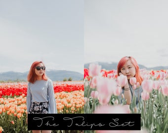 The Tulips Set | Moody Lightroom Presets for Portrait Photography