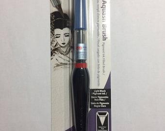 Pentel Arts Aquash Pigment Ink Brush, Light Black Ink