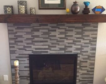 "Rustic Fireplace Mantel  distressed look With a 6"" Depth"