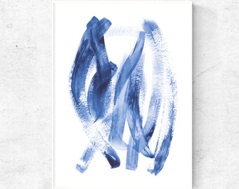 Abstract navy blue digital print, Contemporary wall art, abstract printable,  dark blue abstract art, instant download modern blue art print