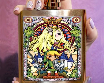 FLASK ZELDA Personalized Flask Hip Flask Funny flask Unique gift handmade flask men hip flask