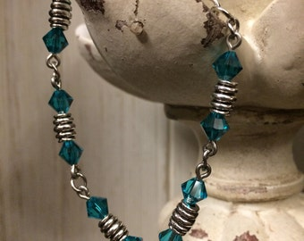 Turquoise Swarovski Crystal Bracelet