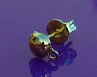 10-50x earring posts gold half ball and loop blanks findings backs pierced dangle plated drop studs diy jewellery making jewelry UK