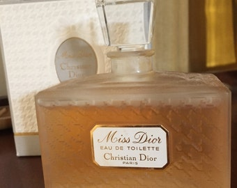 Hard to find vintage Miss Dior EDT by C. Dior 100 ml - 3.4 OZ FL 1996 with its box new