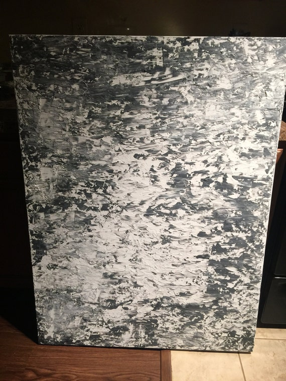 Mixed Media Original Acrylic Abstract Painting 36 x 48 'Memories Fading Fast'