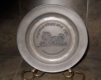 Longfellows Wayside Inn Sudbury Mass. Collectible Pewtarex Plate