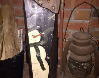 Hand Painted Handsaw - Winter Snowman