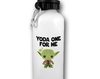 Yoda Water Bottle, Yoda One For Me Bottle, Gift for husband, Gift for boyfriend, Gift for her, Star Wars , Funny BLACK FRIDAY SALE