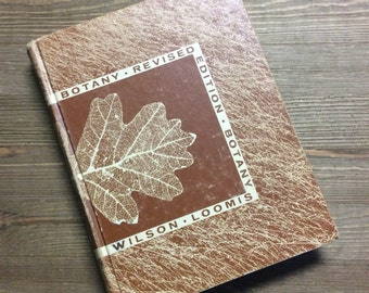 Botany - Vintage Textbook - Science Book - Gift for Teacher - Plants - Textbook - Plant Guide - Botany Science
