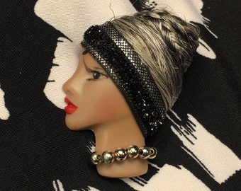 Chantell, African American Lady Face Pin